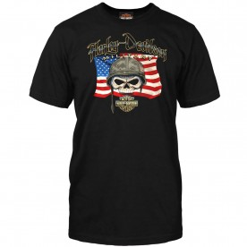 Men's Black Graphic T-Shirt | Overseas Tour - Willie G Flag