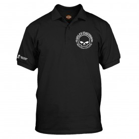 Men's Black Graphic 3-Button Polo Sport Shirt - Overseas Tour | Willie G